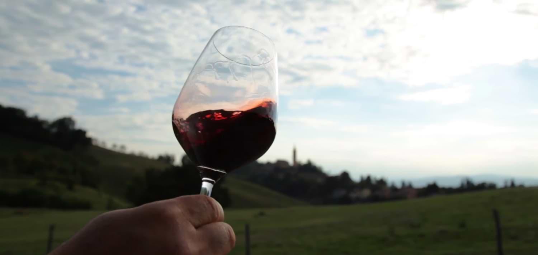 Bicchiere lambrusco Poderi Fiorini Modena