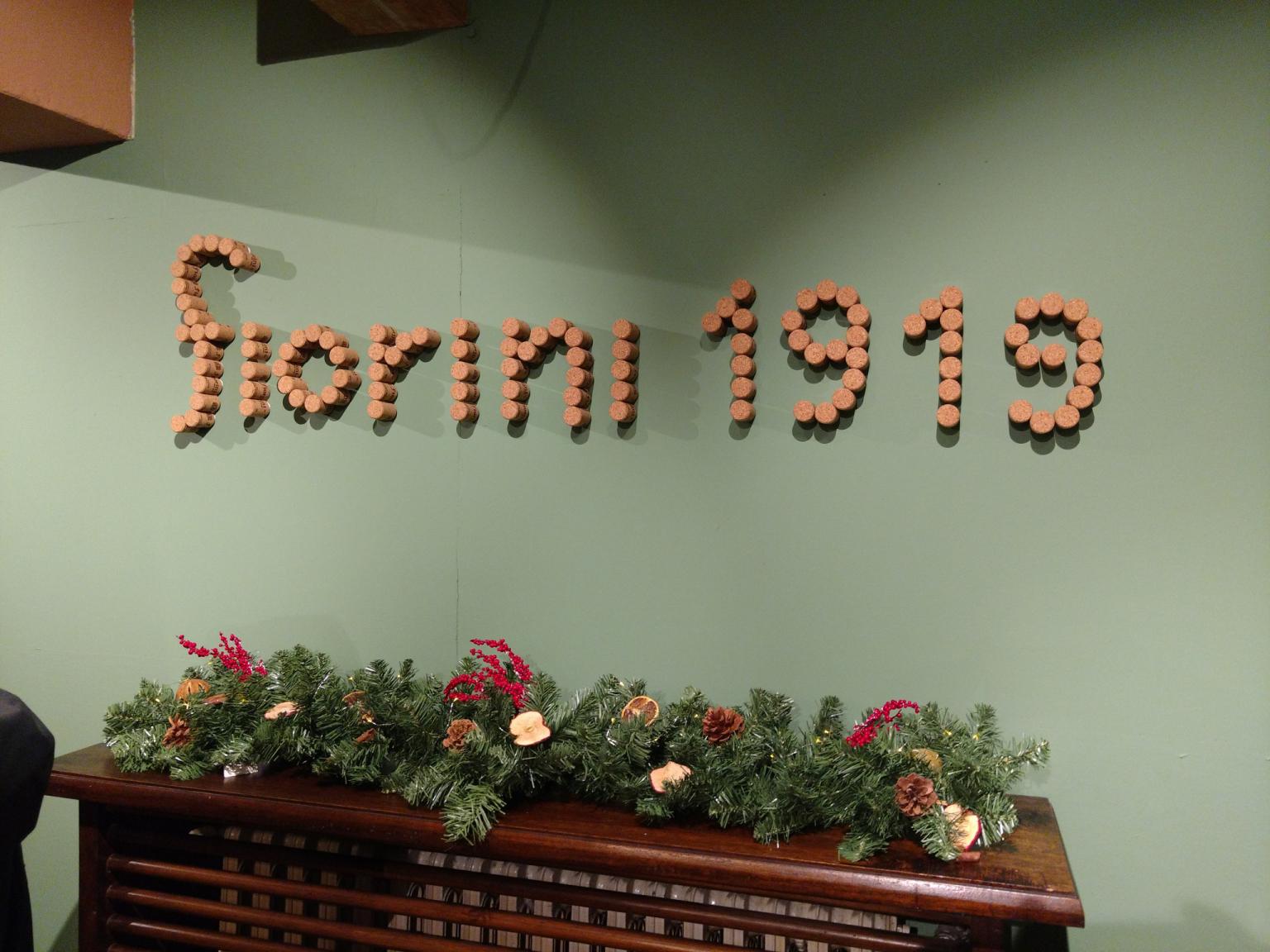 scritta fiorini bottega ganaceto modena
