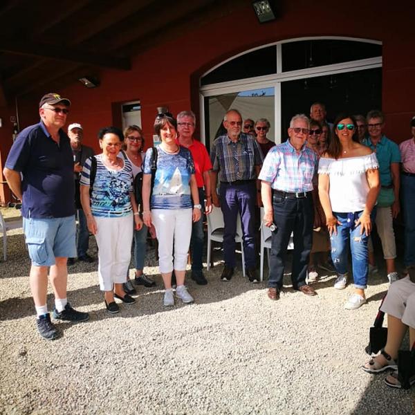 gruppo in visita a poderi fiorini